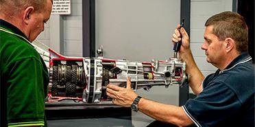 Newcastle staff repairing transmission
