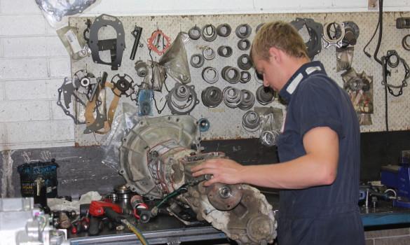 servicing a transmission